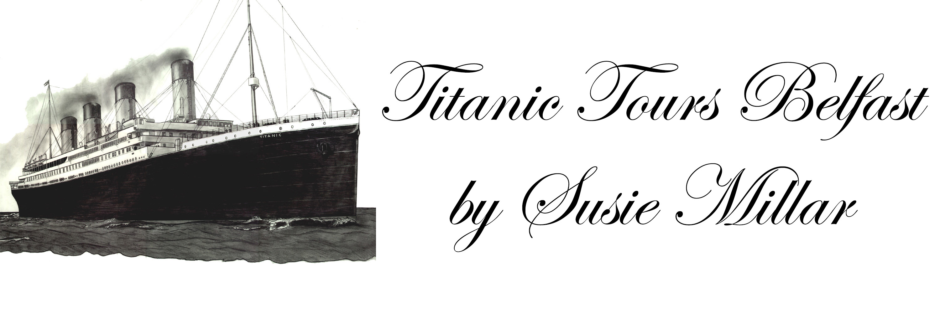 TTB Logo - Titanic drawing by Michael Lane