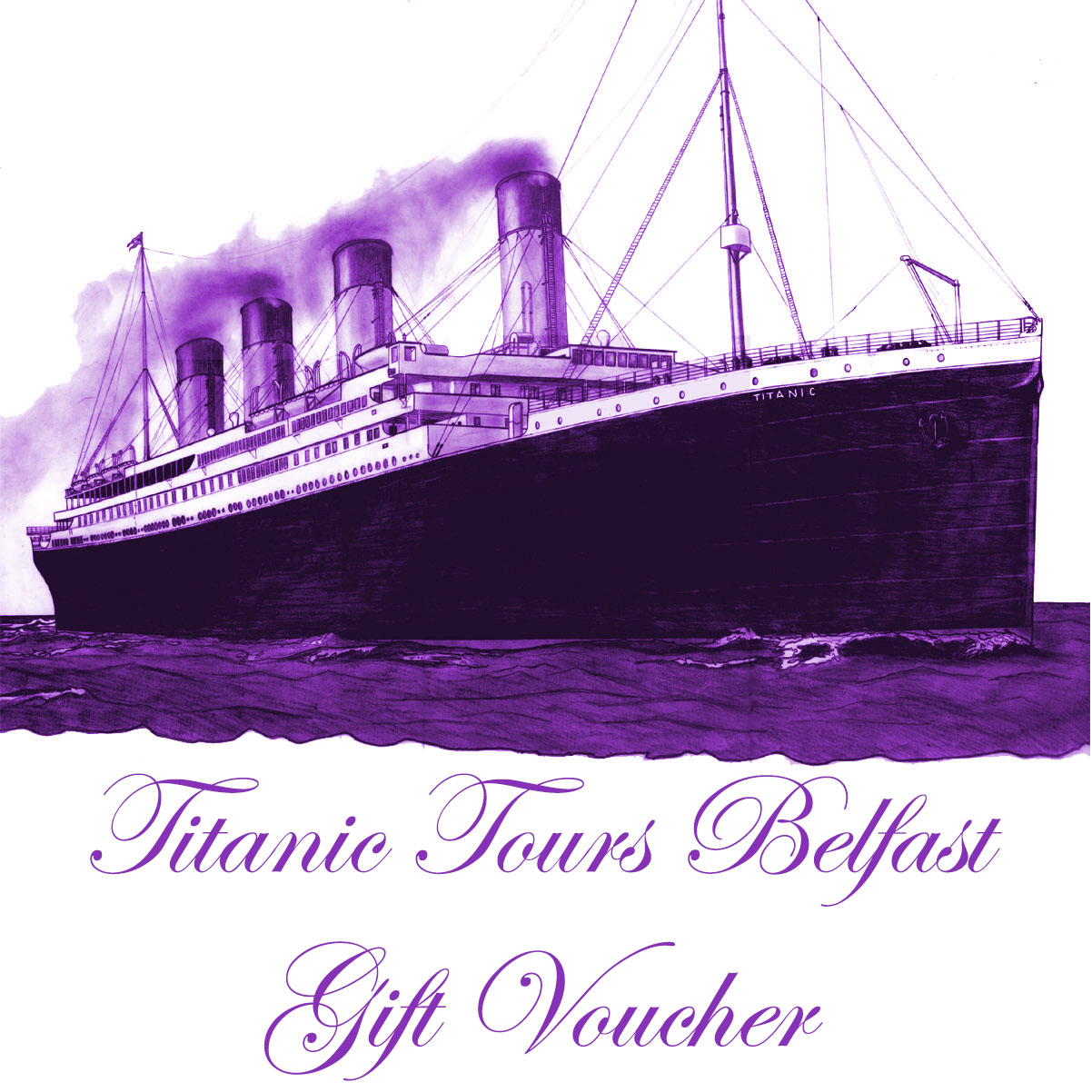 TTB Gift Voucher Logo - Titanic drawing by Michael Lane